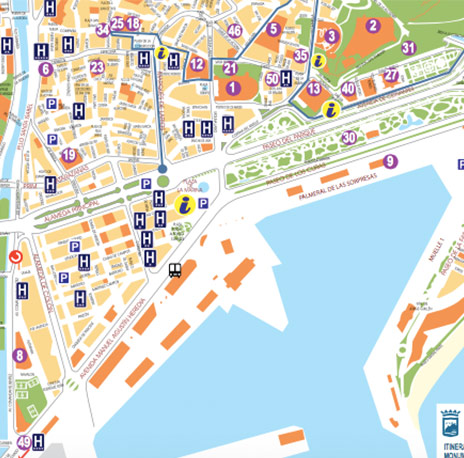 Callejero Mapa De Malaga Capital.Guias Turisticas Y Mapas Gratis De Malaga Hotel Castilla
